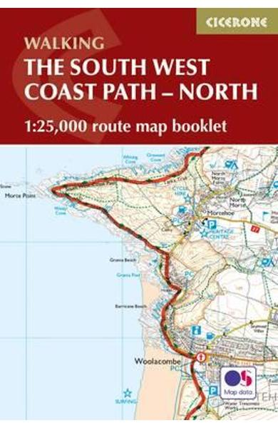 South West Coast Path Map Booklet - Minehead to St Ives