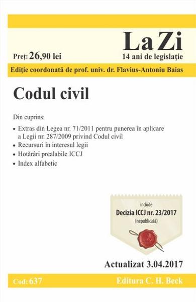 Codul civil Act. 3.04.2017