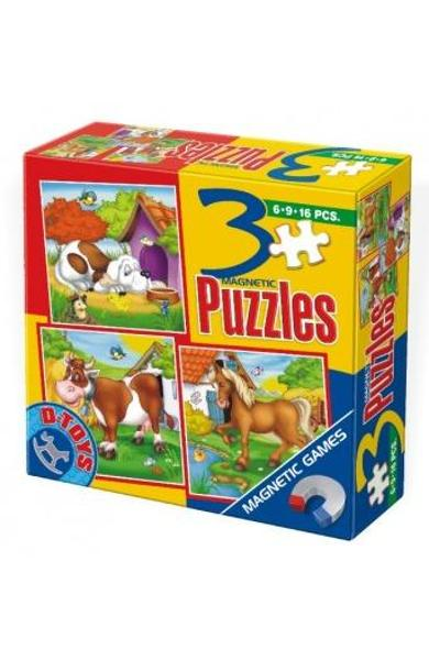 3 Puzzle Magnetic Animale