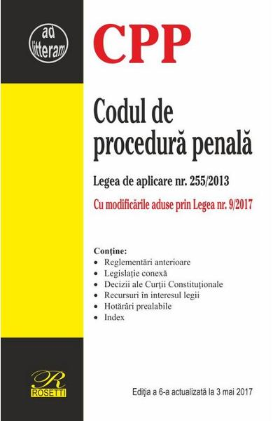 Codul de procedura penala Act. 3 Mai 2017
