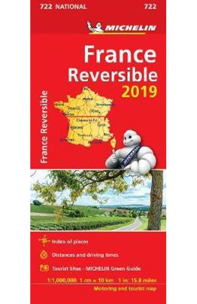 France - reversible 2019 - Michelin National Map 722