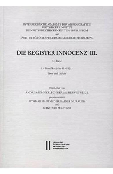 Die Register Innocenz III. / Die Register Innocenz' III., 13