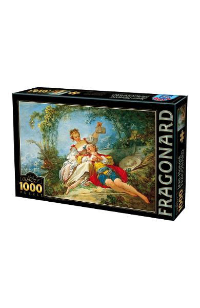 Puzzle 1000 Jean-Honore Fragonard - Happy lovers