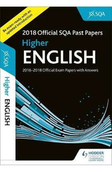 Higher English 2018-19 SQA Past Papers with Answers