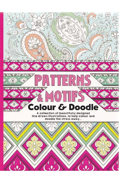 Colour Therapy, Patterns and motifs. Carte de colorat antistress, Modele si motive