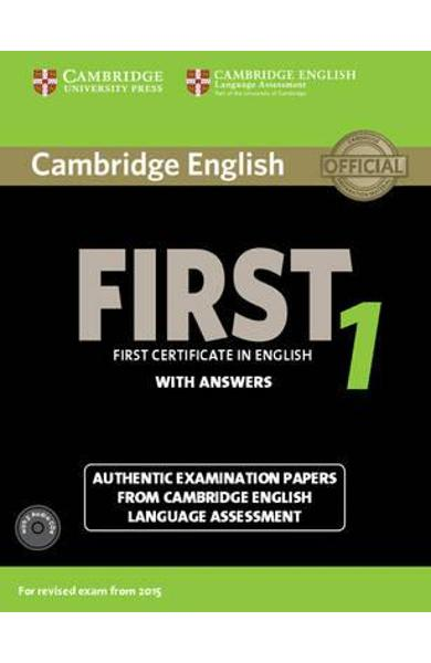 Cambridge English First 1 for Revised Exam from 2015 Student