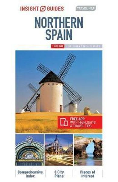Insight Guides Travel Map of Northern Spain - Barcelona Map,