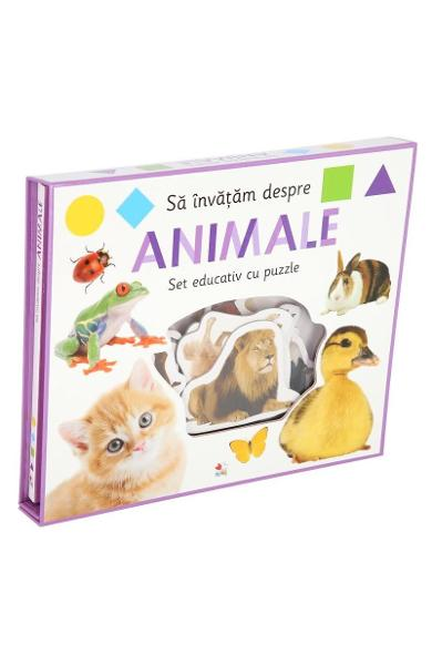 Sa invatam despre animale. Set educativ cu puzzle - Holly Price, Ellie Boultwood