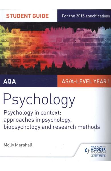 AQA Psychology Student Guide 2: Psychology in context: Appro - Molly Marshall