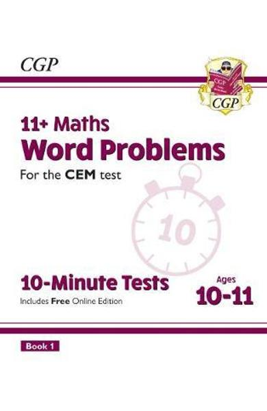 New 11+ CEM 10-Minute Tests: Maths Word Problems - Ages 10-1
