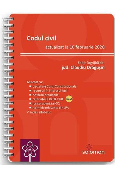 Codul civil Act. 10 februarie 2020 - Claudiu Dragusin
