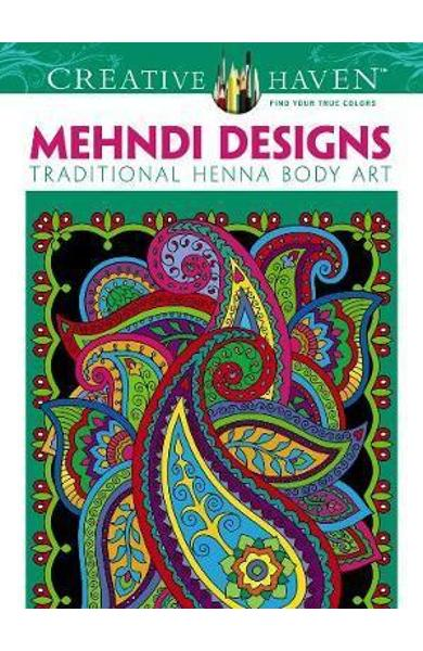 Creative Haven Mehndi Designs Coloring Book - Marty Noble