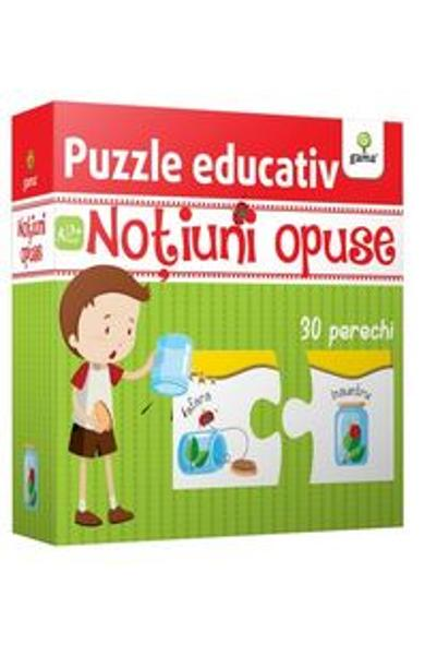Puzzle educativ: Notiuni opuse