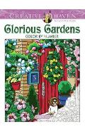 Creative Haven Glorious Gardens Color by Number Coloring Boo - George Toufexis