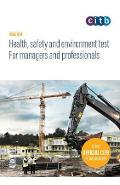 Health, safety and environment test for managers and profess