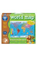Puzzle si poster Harta lumii (engleza 150 piese) - Worls Map Puzzle & Poster