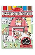 Paint with water, Farm animals. Set de pictura cu apa, Ferma