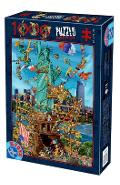 Puzzle 1000. Cartoon Collection: New York