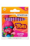 Trolls, Crayons 12 colours. Set 12 creioane colorate cerate