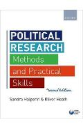 Political Research - Sandra Halperin