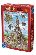 Puzzle 1000. Cartoon Collection: Turnul Eiffel