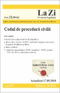 Codul de procedura civila. Actualizat 17.09.2018