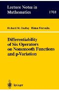 Differentiability of Six Operators on Nonsmooth Functions an