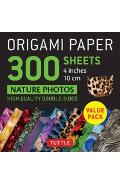 Origami Paper 300 sheets Nature Photo Patterns 4 inch (10 cm -