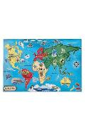 World Map. Puzzle de podea, Harta lumii