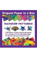Origami Paper in a Box - Rainbow Patterns -