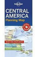 Lonely Planet Central America Planning Map -