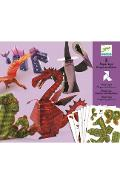 5 Paper toys, Dragons et chimeres. Dragoni