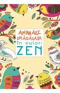 Animale dragalase in culori zen - Carte de colorat