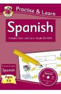 Practise & Learn: Spanish (Ages 7-9) - with Vocab CD-ROM