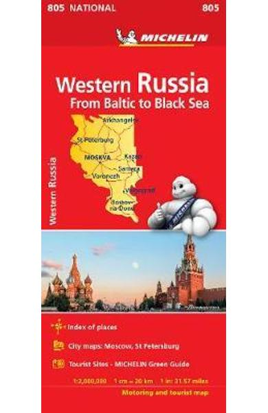 Western Russia - Michelin National Map 805