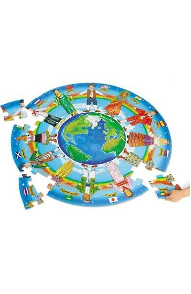 Circular floor puzzle, Children of the world. Puzzle de podea, Copiii lumii