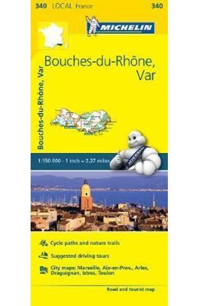 Bouches-du-Rhone, Var, France Local Map 340