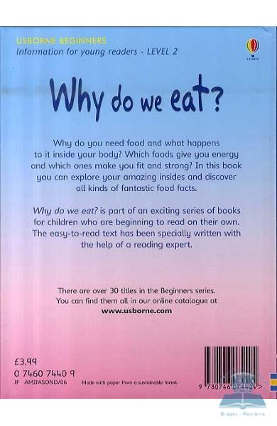 why do we eat essay 2013-11-1 the importance of eating healthy  november 1,  why does it do anything for me  diets are temporary and make you eat less food rather than the right food.