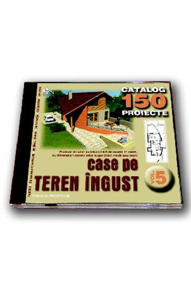 Cd proiecte case pe teren ingust Vol.5