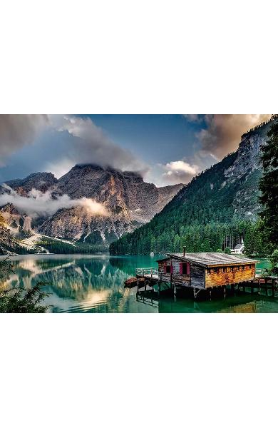 Puzzle 1000 Discover Europe: Pragser Wildsee. South Tyrol - Italy