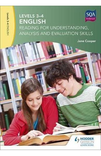 Levels 3-4 English: Reading for Understanding, Analysis and