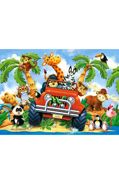 Puzzle 60 Castorland - Softies on Safari