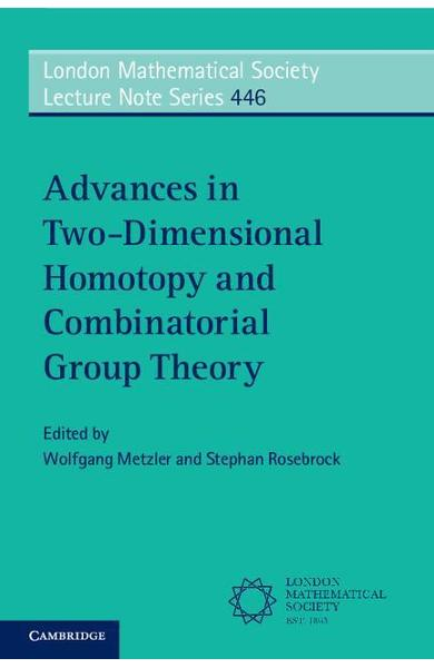 Advances in Two-Dimensional Homotopy and Combinatorial Group