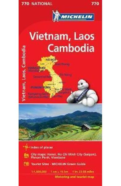 Vietnam Laos Cambodia Map 2017