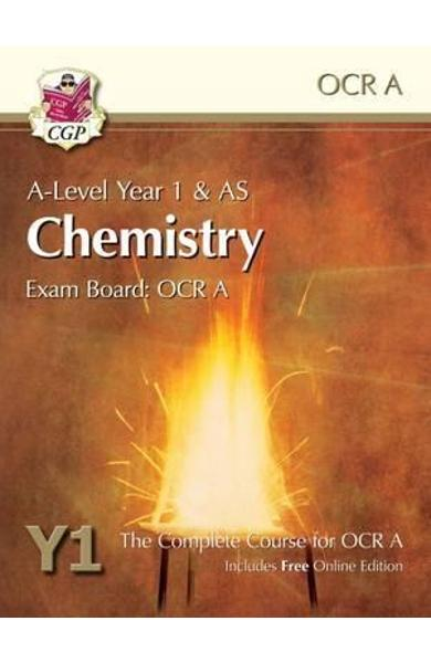 New A-Level Chemistry for OCR A: Year 1 & AS Student Book wi