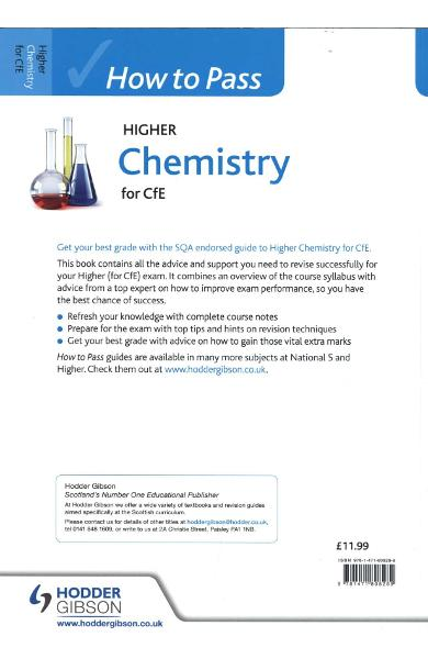 How to Pass Higher Chemistry for CFE