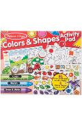Colors & shapes activity pad. Bloc cu activitati, Forme si culori ( in engleza)