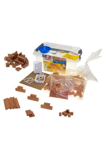 Build and play with real bricks. Set de constructie din caramizi