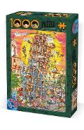Puzzle 1000 Cartoon Collection - Turnul din Pisa